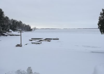 Callander Bay Lake Nippissing Winter Cottage View